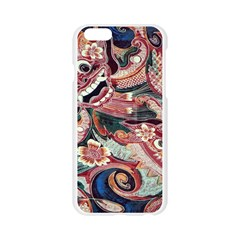 Indonesia Bali Batik Fabric Apple Seamless iPhone 6/6S Case (Transparent)