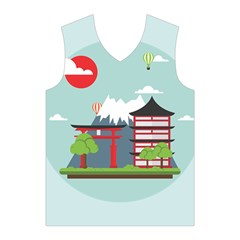 Japan Landmark Landscape View Men s Basketball Tank Top