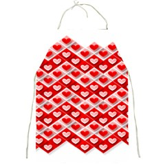 Love Hearts Valentine S Day Pink Full Print Aprons