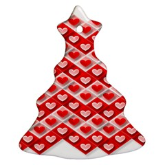 Love Hearts Valentine S Day Pink Ornament (Christmas Tree)