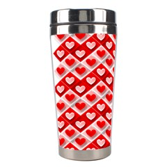 Love Hearts Valentine S Day Pink Stainless Steel Travel Tumblers