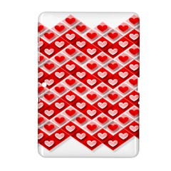 Love Hearts Valentine S Day Pink Samsung Galaxy Tab 2 (10.1 ) P5100 Hardshell Case