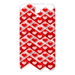 Love Hearts Valentine S Day Pink Samsung Galaxy Mega I9200 Hardshell Back Case