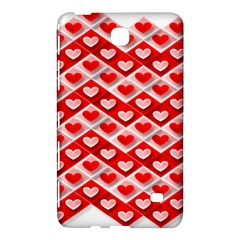Love Hearts Valentine S Day Pink Samsung Galaxy Tab 4 (7 ) Hardshell Case