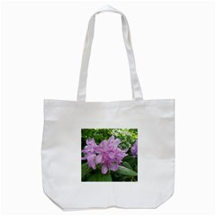 Purple Rhododendron Flower Tote Bag (White)