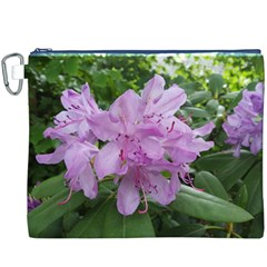 Purple Rhododendron Flower Canvas Cosmetic Bag (XXXL)