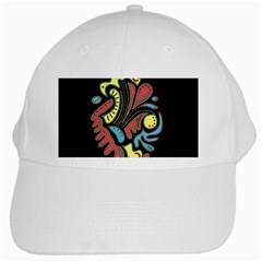 Colorful abstract spot White Cap