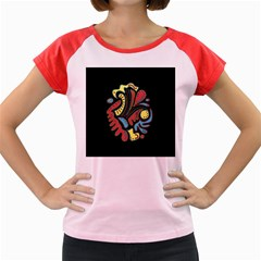 Colorful abstract spot Women s Cap Sleeve T-Shirt