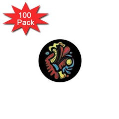Colorful abstract spot 1  Mini Magnets (100 pack)