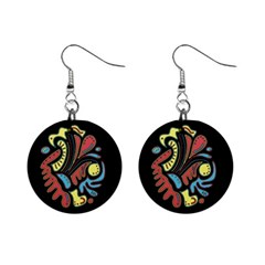 Colorful abstract spot Mini Button Earrings