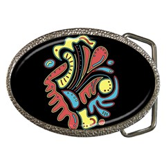 Colorful abstract spot Belt Buckles