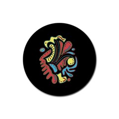 Colorful abstract spot Rubber Round Coaster (4 pack)