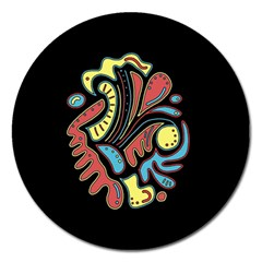 Colorful abstract spot Magnet 5  (Round)
