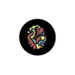 Colorful abstract spot Golf Ball Marker