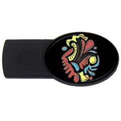 Colorful abstract spot USB Flash Drive Oval (2 GB)