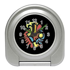 Colorful abstract spot Travel Alarm Clocks