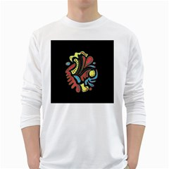 Colorful abstract spot White Long Sleeve T-Shirts