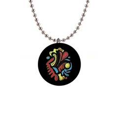 Colorful abstract spot Button Necklaces