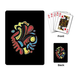 Colorful abstract spot Playing Card
