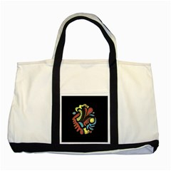 Colorful abstract spot Two Tone Tote Bag