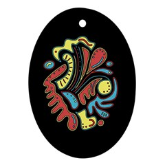 Colorful abstract spot Oval Ornament (Two Sides)