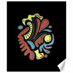 Colorful abstract spot Canvas 8  x 10