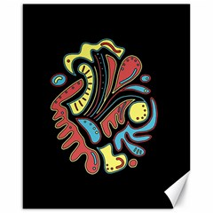 Colorful abstract spot Canvas 16  x 20