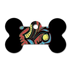 Colorful abstract spot Dog Tag Bone (Two Sides)