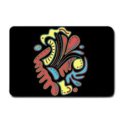 Colorful abstract spot Small Doormat