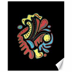 Colorful abstract spot Canvas 11  x 14