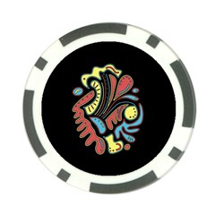 Colorful abstract spot Poker Chip Card Guards