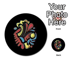 Colorful abstract spot Multi-purpose Cards (Round)