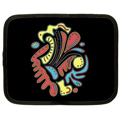 Colorful abstract spot Netbook Case (XXL)