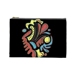 Colorful abstract spot Cosmetic Bag (Large)