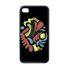 Colorful abstract spot Apple iPhone 4 Case (Black)