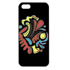 Colorful abstract spot Apple iPhone 5 Seamless Case (Black)