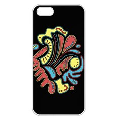 Colorful abstract spot Apple iPhone 5 Seamless Case (White)
