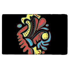 Colorful abstract spot Apple iPad 2 Flip Case