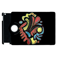 Colorful abstract spot Apple iPad 3/4 Flip 360 Case