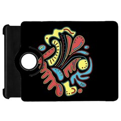 Colorful abstract spot Kindle Fire HD Flip 360 Case