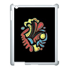 Colorful abstract spot Apple iPad 3/4 Case (White)