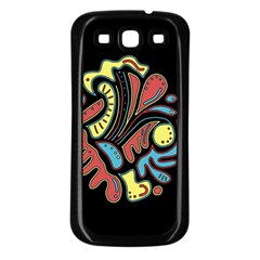 Colorful abstract spot Samsung Galaxy S3 Back Case (Black)