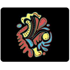 Colorful abstract spot Double Sided Fleece Blanket (Medium)