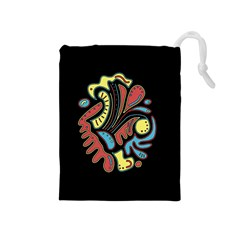 Colorful abstract spot Drawstring Pouches (Medium)