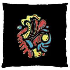 Colorful abstract spot Large Flano Cushion Case (One Side)