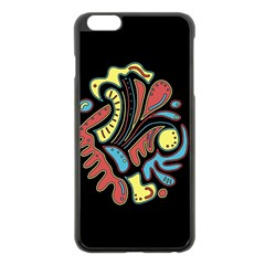 Colorful abstract spot Apple iPhone 6 Plus/6S Plus Black Enamel Case