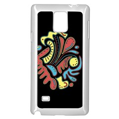 Colorful abstract spot Samsung Galaxy Note 4 Case (White)