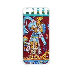 Mexico Puebla Mural Ethnic Aztec Apple Seamless iPhone 6/6S Case (Transparent)