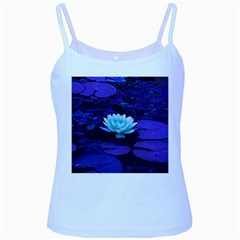 Lotus Flower Magical Colors Purple Blue Turquoise Baby Blue Spaghetti Tank