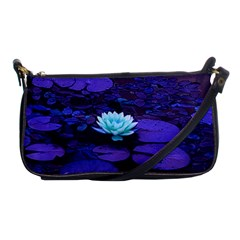 Lotus Flower Magical Colors Purple Blue Turquoise Shoulder Clutch Bags